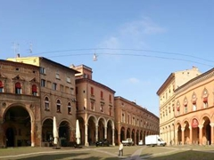 Beautiful buildings on Piazza Santo Stefano
