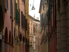 Colorful Bologna alleyway
