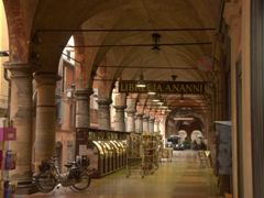 Bologna is a city famous for its porticos with over 40 kilometers of arcades protecting its inhabitants from the elements