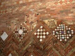 Brick mosaic in Basilica di Santo Stefano