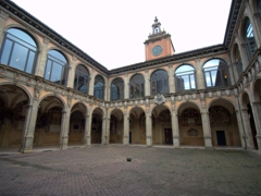 Courtyard of the Archiginnasio, once the main building of the University of Bologna