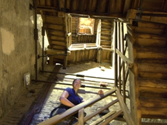Becky climbing the 498 steps of the Tower of the Asinelli (Torre degli Asinelli, built between 1109 and 1119)