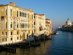 Palazzo Cavalli-Franchetti, an impressive neo-Gothic building at the foot of the Accademia bridge