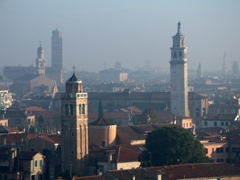 Early morning view of Venice's skyline (as seen from the 10th deck of our cruise)