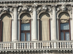 Window decor; building on Grand Canal