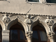 Decorative arches are a commonplace sight in pretty Venice