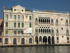 Ca' d'Oro (Palazzo Santa Sofia), one of the older palaces on the Grand Canal. It currently hosts the art collection of the Baron Giorgio Franchetti