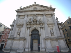 San Stae (Saint Eustachius) Church with a beautiful 17th century facade