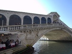 Rialto Bridge, one of four to span the Grand Canal