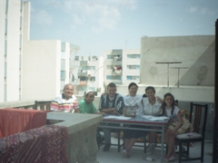 Our Tunisian host family. From L to R: Mohammed, Noora, Sean, Dr Foouzia, Becky & Anayah