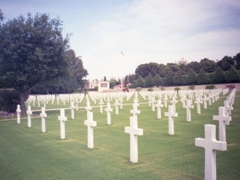 A view of the very well maintained North Africa American Cemetery where 2,841 US military casualties from WWII are laid to rest