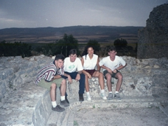 Dougga toilets...check out our facial expressions!