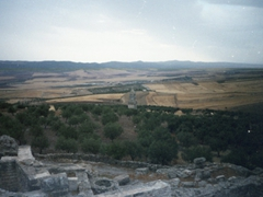 The Mausoleum of Ateban (a 21 meter structure with bilingual Punic and Libyan inscriptions) is considered one of Dougga's masterpieces. We admired it from afar