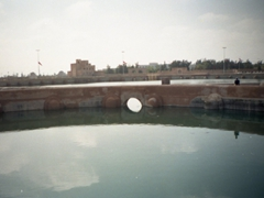 Another view of the Aghlabid basins, a 9th century cistern in the holy city of Kairouan (the 4th holiest city in Islam after Mecca, Medina & Jerusalem)