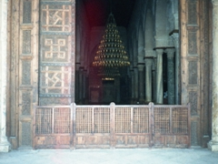 Lower part of the main door of the prayer hall; Great Mosque of Kairouan