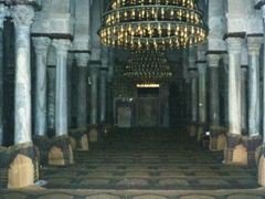 Interior view of the prayer hall; Great Mosque of Kairouan