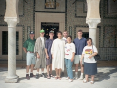 Group photo at the Mosque Sidi Sahbi; Kairouan