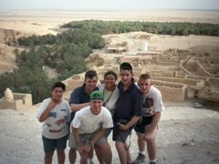 Group photo at Tamerza (the largest mountain oasis in Tunisia)