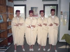 Ken, Sean, Pad & Ryan in their Tunisian traditional garb