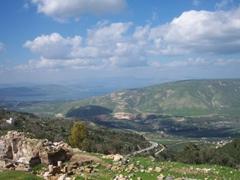 Umm Qais, whose ancient Gadara ruins command impressive views over the Sea of Galilee (Lake Tiberias) and the Golan Heights