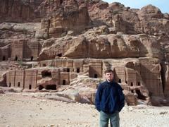 Robby at the Street of Façades; Petra