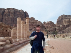 Robby at the Colonnaded Street