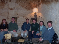 Our group at the Cave Bar, Petra