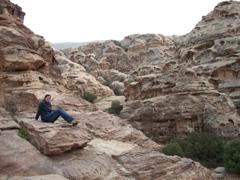 Becky enjoying Little Petra
