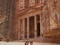 In front of Petra's most photographed site, the Treasury