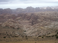 Petra's large valley runs from the Dead Sea to the Gulf of Aqaba