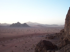 View of Wadi Rum from our camp site
