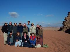 Group photo before leaving Wadi Rum