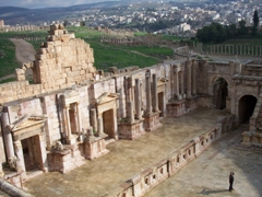 Jerash has two theatres. This is a view of the larger south theatre