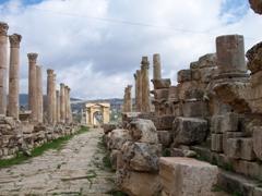 The Cardo Maximus of ancient Jerash