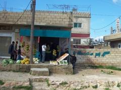 A quick stop to buy some fruit; near Umm Qais