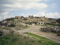 Another view of the ruins of the ancient Gadara; Umm Qais