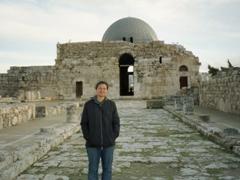 Becky at the 8th century Ummayad Palace Complex; Amman Citadel