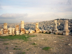 Columns near the Temple of Hercules; Amman Citadel