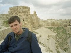 Robby at Kerak Castle, the largest Crusader Castle in Jordan