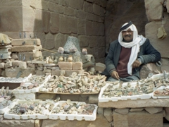 Bedouin man selling souvenirs