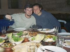 Our last group dinner; Amman