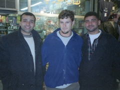 Robby with some friendly Jordanians; downtown Amman