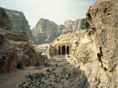 View of the Garden Tomb; Petra