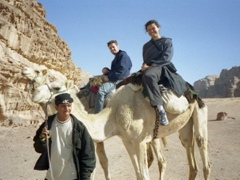 Getting ready for our 3 hour camel ride through Wadi Rum