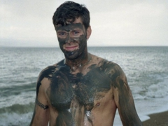 Robby with Dead Sea mud slathered all over himself