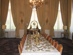 Dining room of Niavaran Palace; Tehran