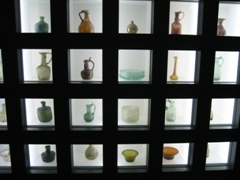 Display case in the Ceramics Museum, Tehran