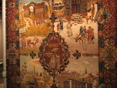 We really enjoyed looking at the beautiful workmanship of the Persian carpets on display in the museum, and vowed to purchase our own to bring back home!