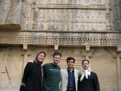 Meeting a friendly Iranian couple at Persepolis