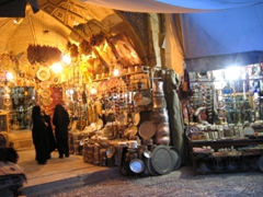 Get ready for shopping! Entrance to Kerman Bazaar